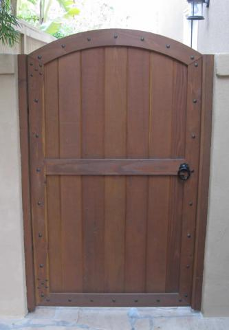 Wood Gates Arched Yard Custom Redwood See Through